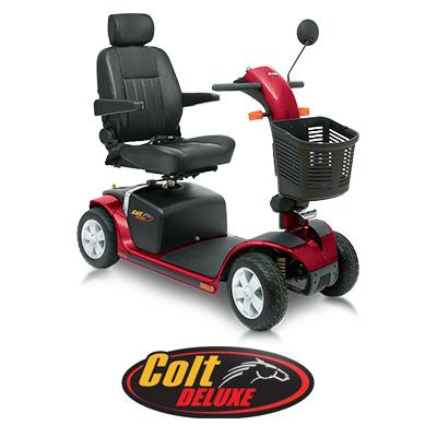 Pride colt deluxe mobility scooter mobility scooters for for Mobility scooters for sale